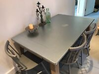 Fawn Dining Table from Made with Zinc Top and Mango Wood