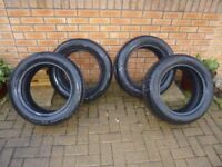 225 55 R17 101W tyres as new 4 tyres set. 2x Nexen and 2x Rapid. Fit Vauxhall and others. 225/55R17