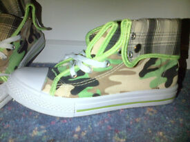 NEW - Camofladge boots/trainers - size 5/6 - £6