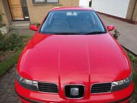 2003 Seat Leon S 16v 5 door hatchback Reluctant sale - MOT 08-08-17 - Red