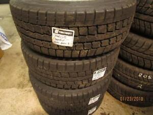 205/55R16 SET OF 4 USED DUNLOP WINTER TIRES ON BMW 3 SERIES RIMS