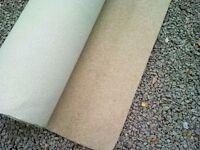 Brand new piece of twist pile beige carpet remnant