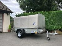 Ifor Williams P6e Trailer 6ft 6' x 4ft *NO VAT* Drop Down Tailgate with Stock Canopy 750kg and Spare
