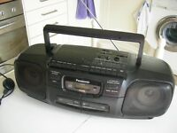 Radio CD & Twin Cassette Player,