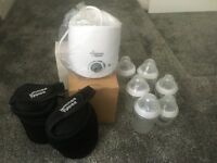 Tommee tippee bottle warm including bottles- not used