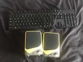 keyboard and speakers for sale