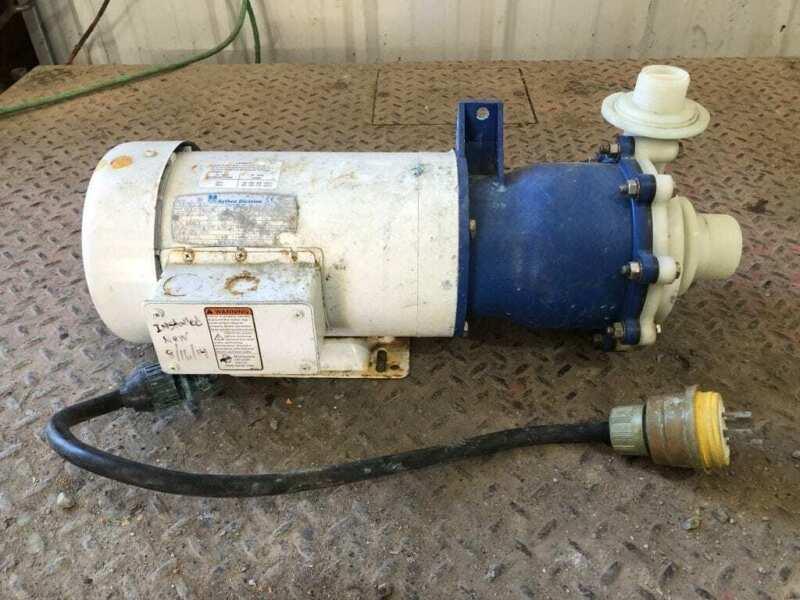 MET-PRO 344-A33E 3HP Polypro Magnetic Drive Pump 2850/3450RPM 20A 480V 3PH