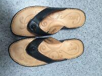 Beautiful Born Black Leather Sandals- new size 6
