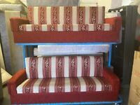 TWO PIECE FABRIC SOFAS SET WITH LOTS OF STORAGE UNDERNEATH