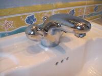 Bathroom sink mixer tap