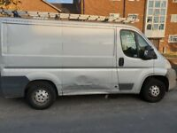 Relay 30 panel van light goods vehicle. Previously used for painting and decorating.