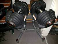 RRP £699.99 Bowflex 4 - 41KG Select Tech Dumbells and Stand