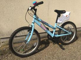 Kids girls trax bike from Halfords wheels 20""