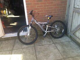 Grey bike. Excellent quality.