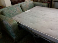 SOFA BED (double) - In good condition, Welshpool, collect only . £40 ono.