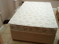 4ft. Divan with Drawers, With Ignifugo Mattress.