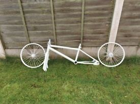 White BMX Frame and Wheels