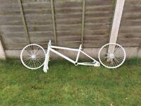 White BMX Frame and Wheels