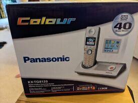 Panasonic TG8120E Single DECT Cordless Phone With Answer Machine Colou