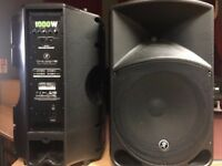 Mackie Thump 15 Active Powered PA DJ Disco Speakers (TWO)