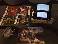 Nintendo 3DS XL (Blue) with 4 games & charger