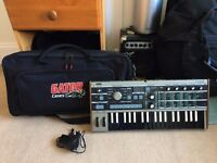 ULTRA RARE Microkorg Korg Reverse Edition Synth Synthesizer Keyboard PLUS GATOR CARRY CASE!!