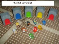 world of warriors toy bundle collection from didcot from a smoke and pet free home