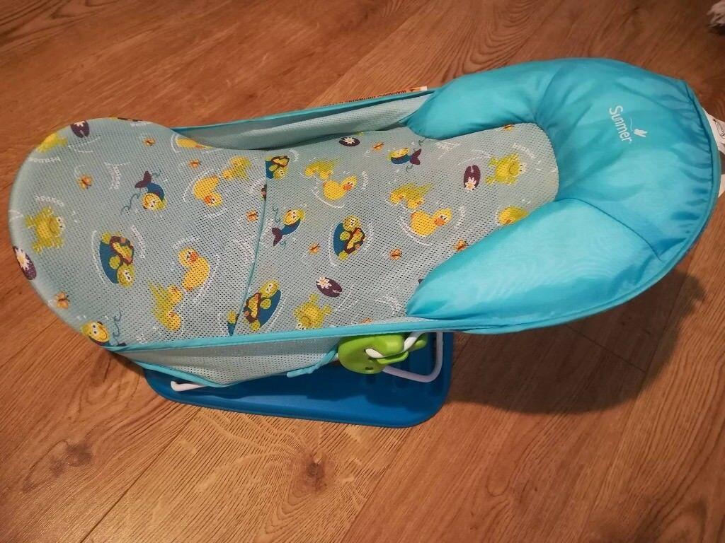 Summer Infant Deluxe Baby Bather Splish Splash Blue/ Bath chair | in ...