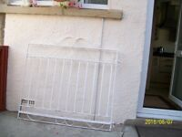 pair drive gates painted white sizes are width 236cms height 99cms