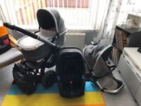 Icandy Peach 3 Travel System with recaro car seat and isofix base