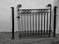 Iron Garden Gates with hinges