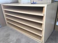 Open Drawer Plan Desk Paper Storage for A1