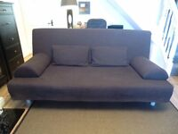 IKEA BEDDINGE THREE SEATER SOFA BED RARELY USED - COMPLETE WITH MATTRESS, UPGRADED COVER, CUSHIONS