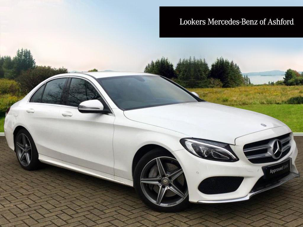 mercedes benz c class c 220 d 4matic amg line premium plus white 2017 01 31 in ashford kent. Black Bedroom Furniture Sets. Home Design Ideas