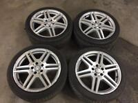"""Mercedes e class amg alloy wheels 18"""" with tyres"""
