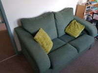Green 2 seater sofa, free, collection only