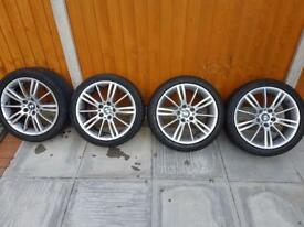 "GENUINE 18"" BMW MV3 M SPORT ALLOYS WITH TYRES CHEAP"