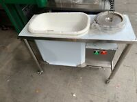 CATERING COMMERCIAL KITCHEN BBQ NEW CHICKEN BREADING TABLE FAST FOOD SHOP KITCHEN