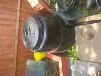 large black compost bin