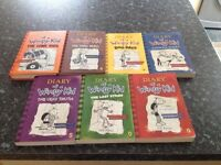 A collection of diary of a wimpy kid