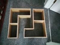 L shape shelves