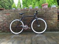 Fixed wheel bicycle / black