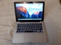 "Apple MacBook Pro 13"", A1278, 2012, i5, 2.5Ghz, 4gb DDR3, 250 SSD,OS X El Capitan 10.11."