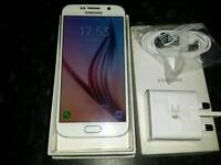 Samsung galaxy s6 gf920 in white, excellent condition, on 02, boxed