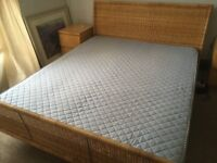 King size bed and mattress from Ikea