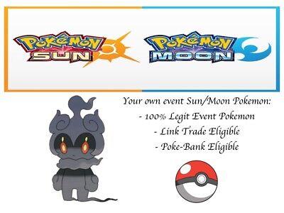 Pokemon Sun and Moon, Ultra Sun and Moon, Gamestop Event Pokemon Marshadow