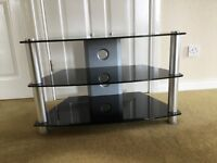 Chrome and Smoked Glass TV Stand