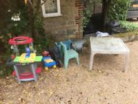 FREE AND URGENT Kids outdoor toys