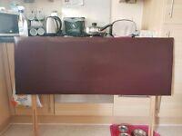 Brown faux headboard