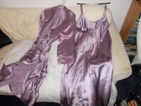 BONSOIR OF LONDON . PURE SILK NIGHTY AND NEGLIGEE